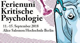 Ferienuni Kritische Psychologie 2018